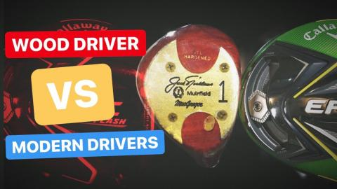 WOOD GOLF DRIVER TESTED AGAINST MODERN DRIVER