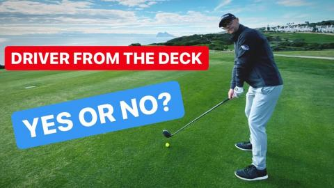 HOW LONG CAN YOU HIT A DRIVER FROM THE DECK